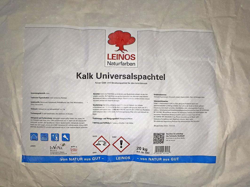 kalk universalspachtel leinosfarben - leinos24.de naturfarben shop
