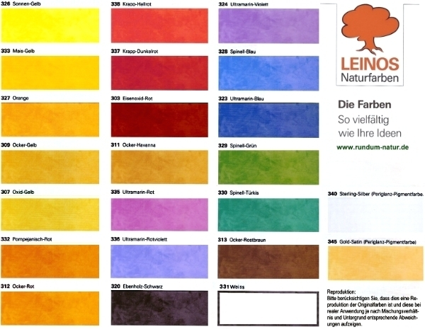 Pigmentkonzentrat Leinos Naturfarben Leinos24 De Naturfarben