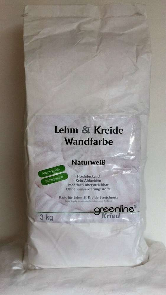 Kreide Wandfarbe lehmkreidefarbe pulver greenline - leinos24.de naturfarben shop