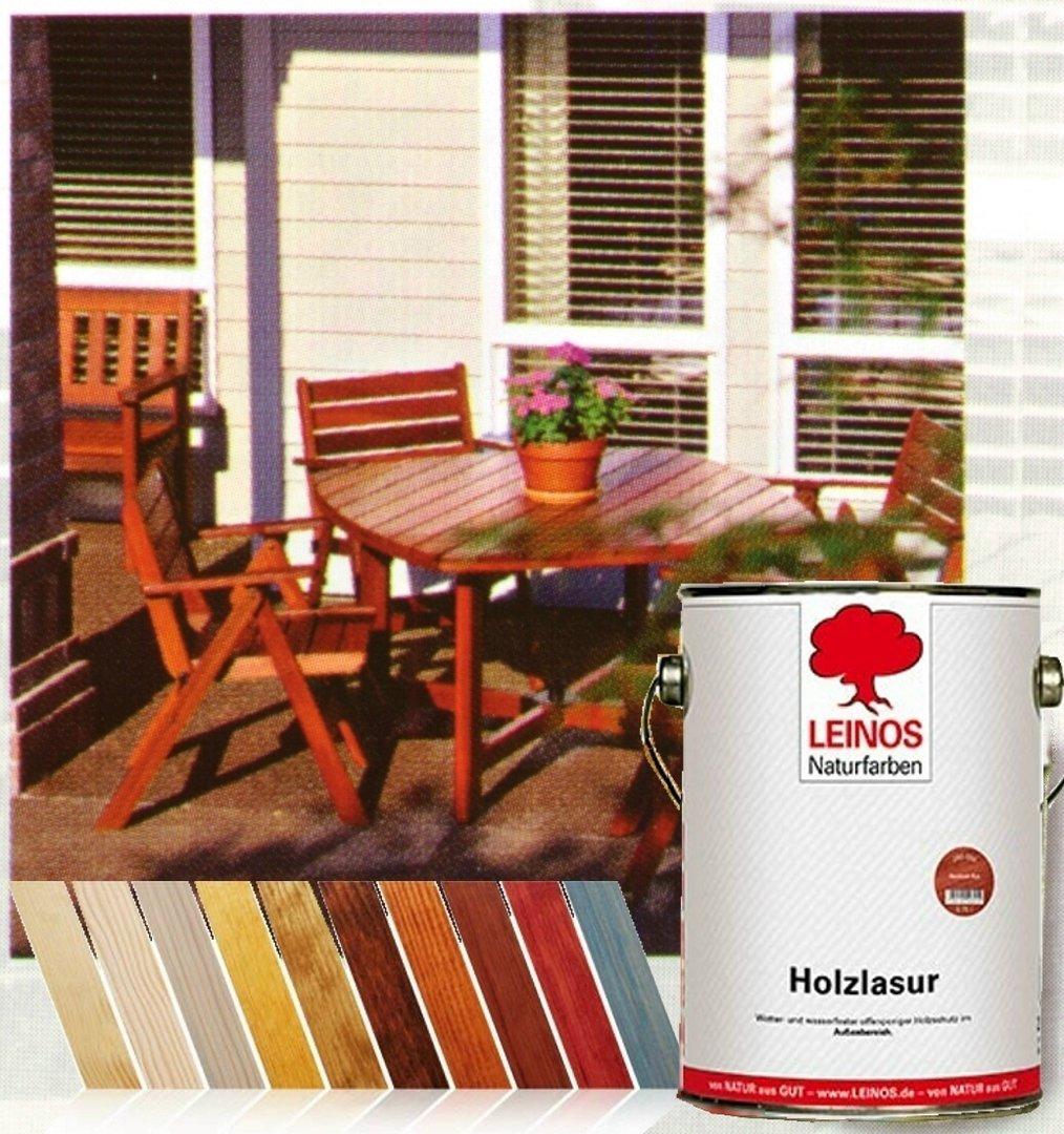 Holzlasur fertig getönt Leinos Naturfarben 31